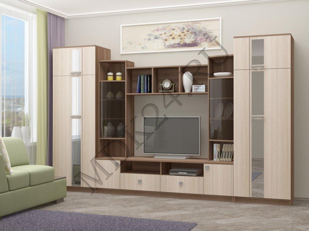 Гостиная «Элегия» - «Мебель Доступная Каждому»